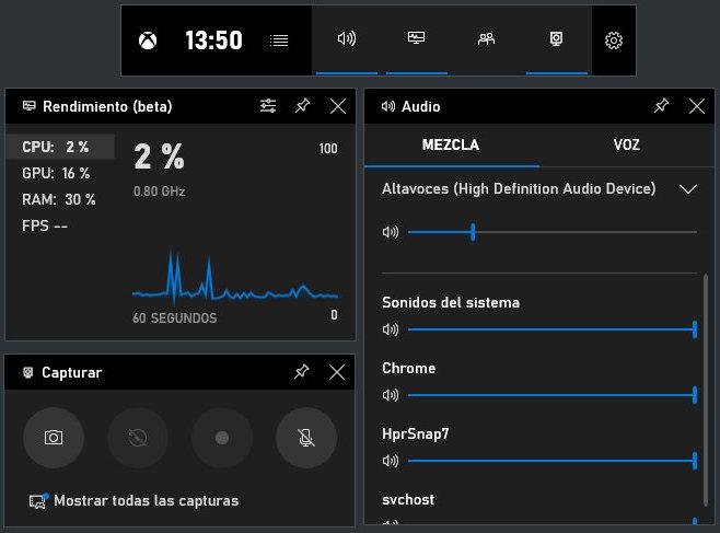 Graba tu pantalla con Xbox Game Bar