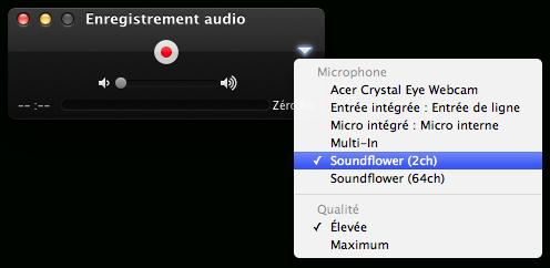 Choisissez une source audio pour enregistrer le son interne sur Mac