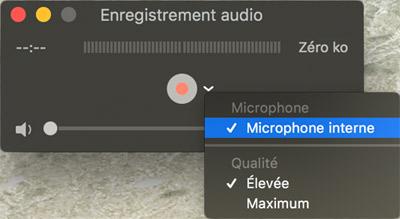 Choisir la source audio avant la capturer du son externe