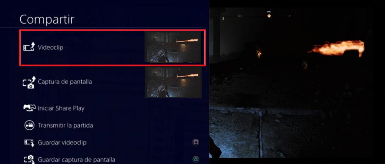 compartir videoclip de PS4
