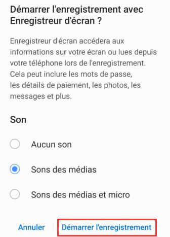Commencer à enregistrer l'écran de son smartphone Android