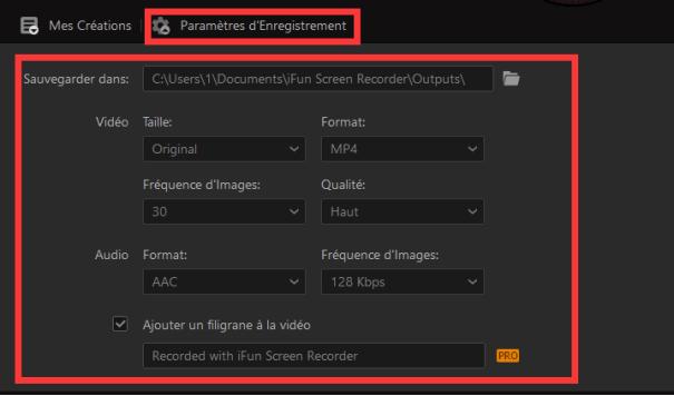 Configurer les paramètres de l'ernegistreur de réunion Teams