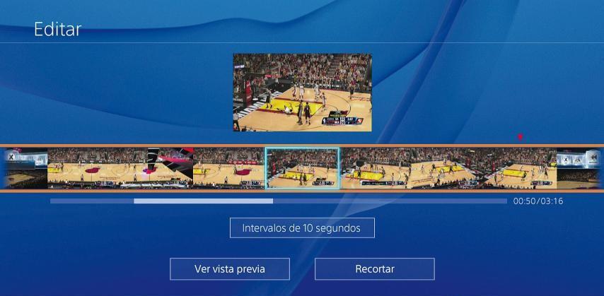 editar videoclip de PS4 para compartir