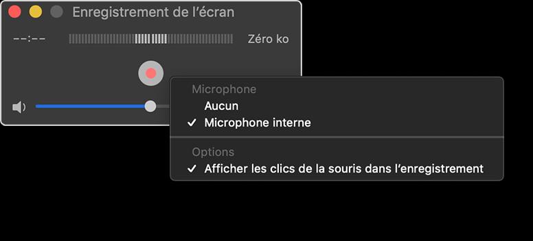 Filmer son ecran avec audio sur Mac