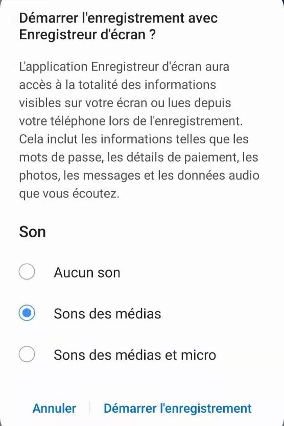 Enregistrer une vidéo WhatsApp sur Android