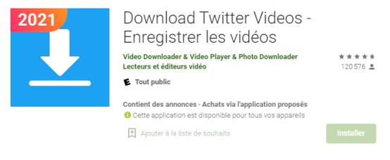 Enregistrer une vidéo Twitter sur Android