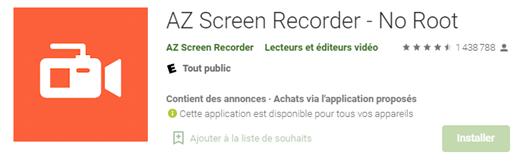 Enregistrez votre écran de téléphone Android avec AZ Screen Recorder