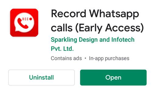 Enregistrer un appel WhatsApp avec un programme tiers