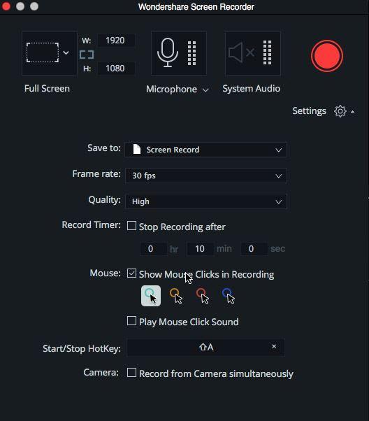 Record YouTube Audio Mac with Filmora
