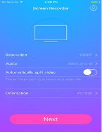 Capturer l'écran de son iPhone - démarrer l'ernegistrement