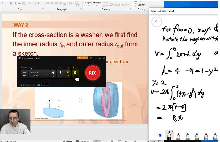 grabar pantalla dar clases con cámara web