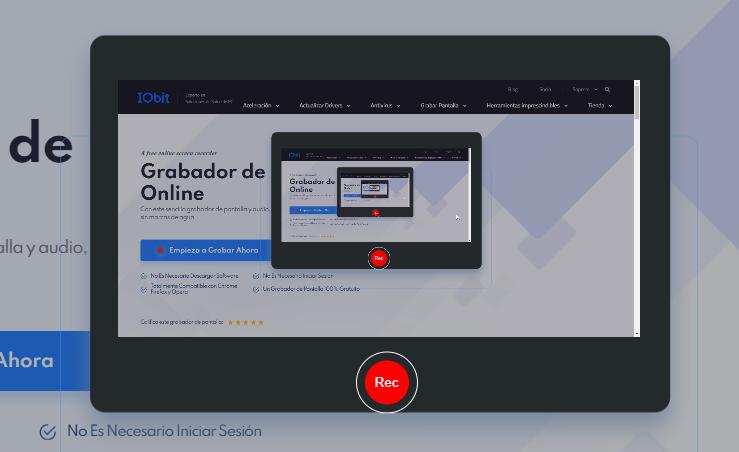 grabar con grabador de pantalla online de IObit - Paso 5