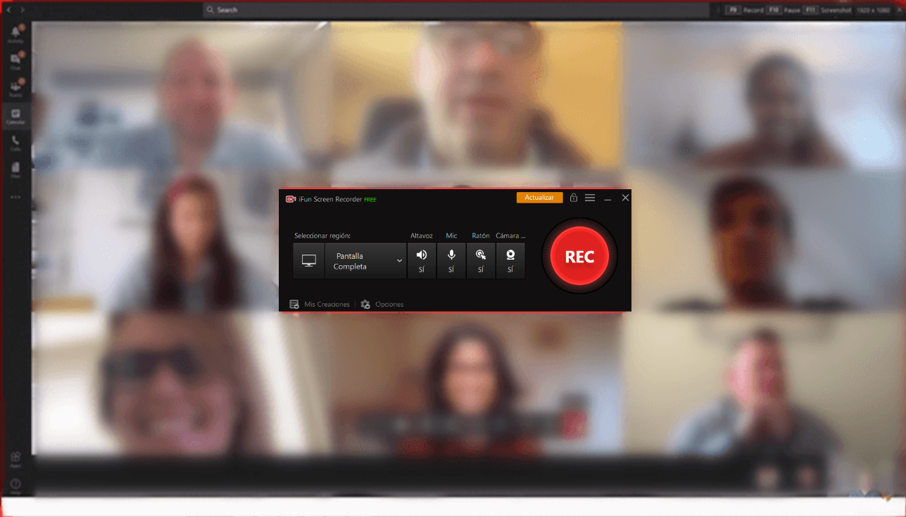 grabar las reuniones en microsoft teams