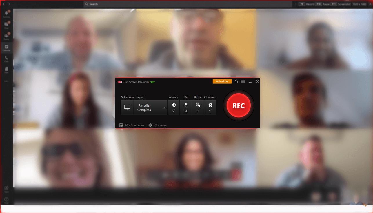 grabar reuniones en google meet con iFun Screen Recorder