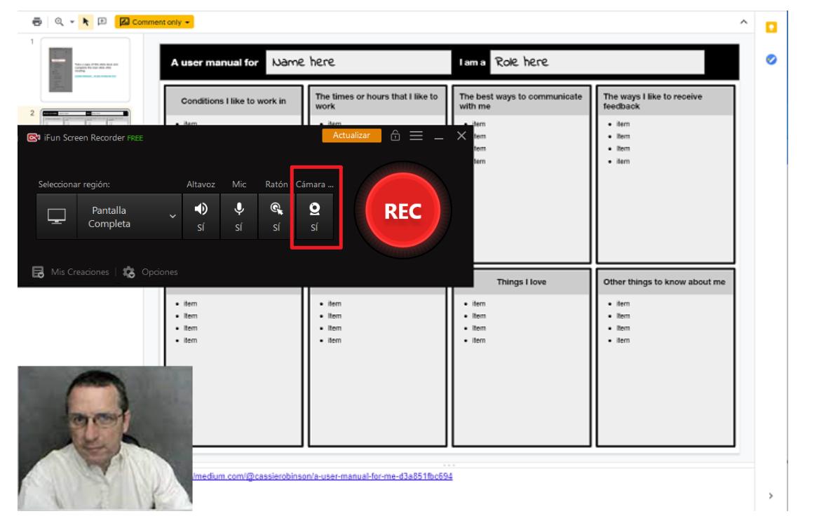 grabar google slides con audio
