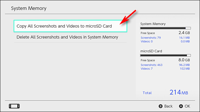 Copy all Recorded Gameplay Videos to SDcard