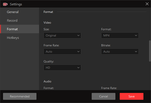 iFun Screen Recorder Has Complete Video Settings for Record a Game Video