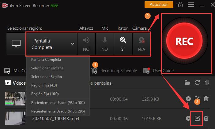 iFun Screen Recorder - la mejor grabador de pantalla