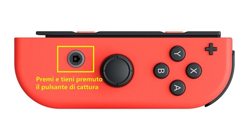 Come registrare gameplay su Nintendo Switch - Pulsante di cattura