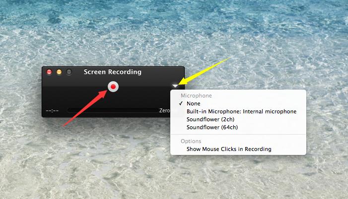 Come registrare lo schermo su Mac con QuickTime Player - Passaggio 3
