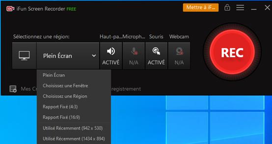 Meilleur enregistreur vidéo – iFun Screen Recorder