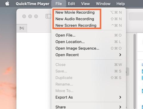 Meilleur enregistreur vidéo - QuickTime Player
