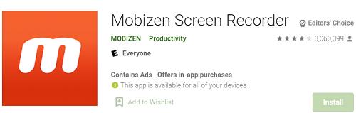Mobizen Screen RecorderMobizen Screen Recorder: Рекодер для Android и iOS