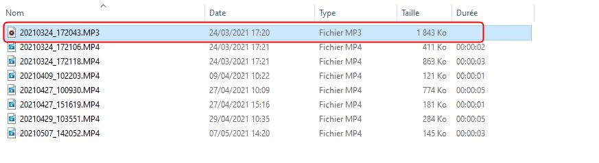 Convertir directement le format du fichier