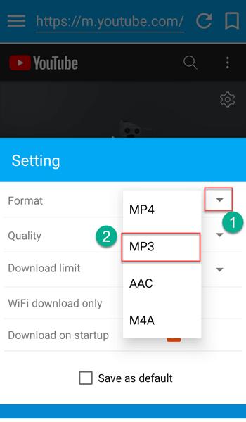 Registra MP3 da YouTube su Android