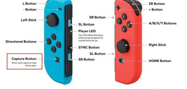 Capture sur Nintendo Switch