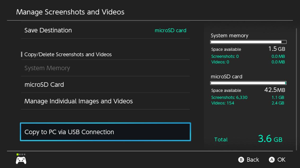 Copier sur le PC via une connexion USB