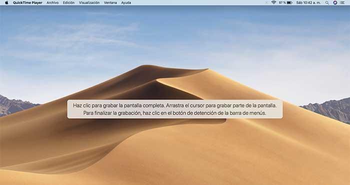 grabar pantalla de mac con Quicktime - Paso 4