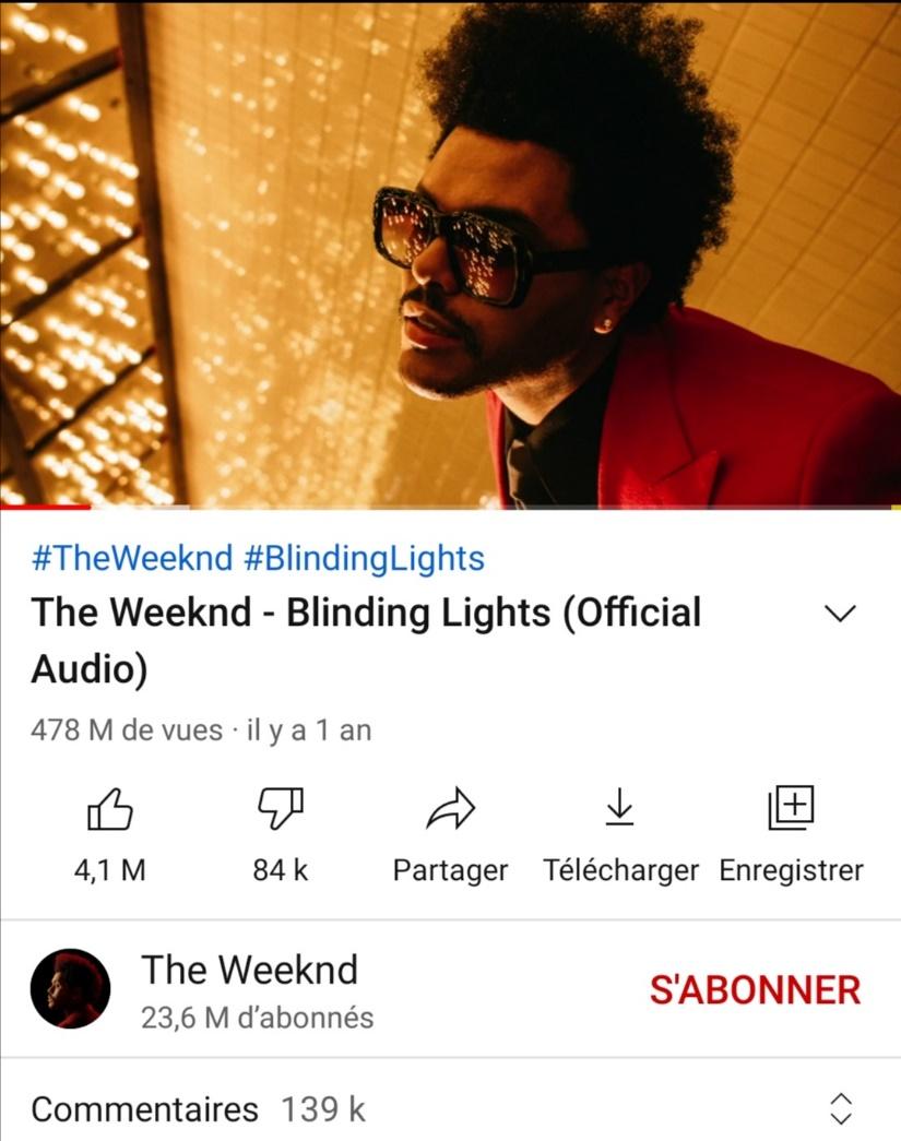 page vidéo YouTube