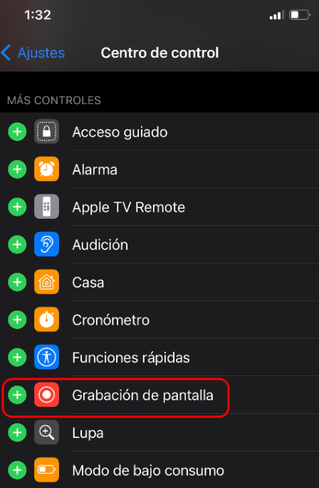 la forma de grabar tu pantalla en iPhone