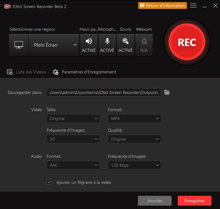 Enregistrer votre écran avec IObit Screen Recorder