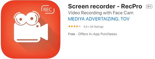 RecPro: Бесплатное приложение для записи экрана в высоком качестве
