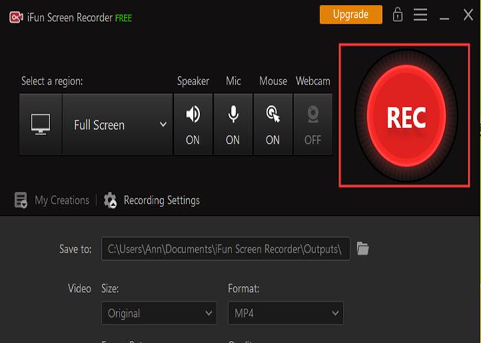 Record the Screen in iFun 1080p Screen Recorder