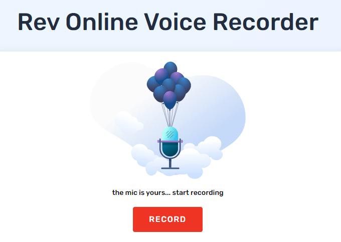Rev Online Voice Recorder