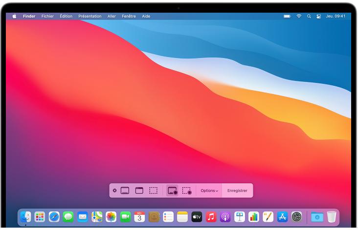 Enregistrer l'écran sur Macbook