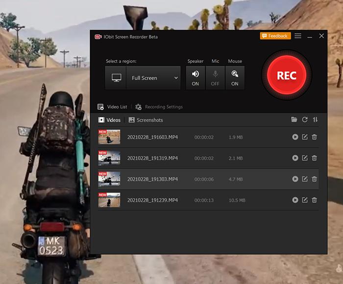 Запись экрана компьютра для игр через IObit Screen Recorder – Просмотр записанного видео