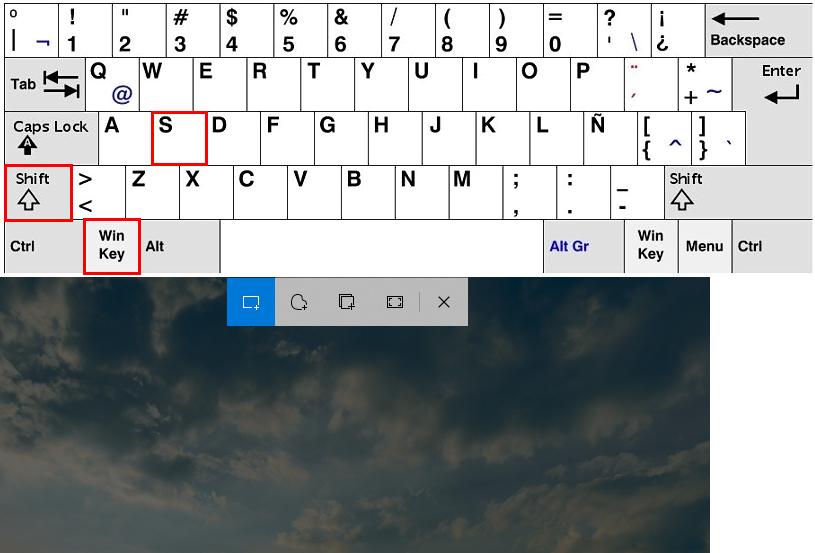hacer capturas de pantalla con teclas de windows