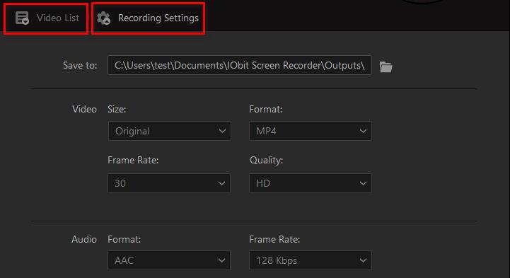 Cómo usar IObit Screen Recorder - Paso 3