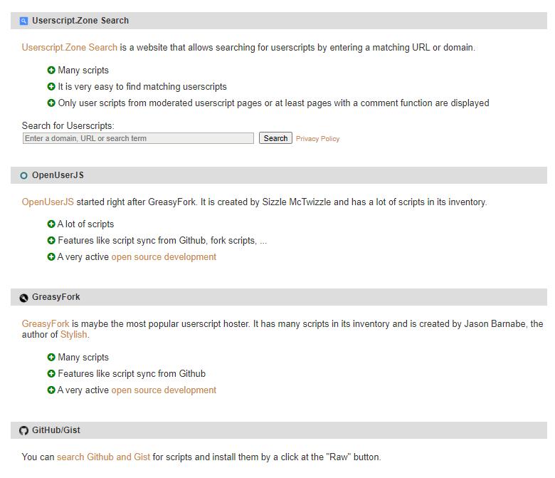 Tampermonkey Userscript Sources