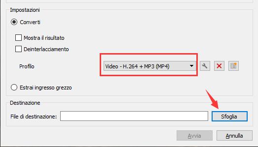 Impostare il formato video