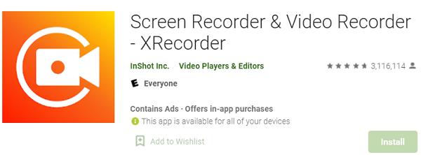 XRecorder: Бесплатное приложение для записи экрана с отличным дизайном