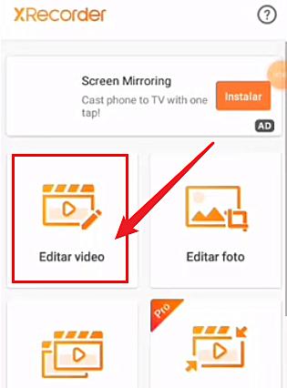 editar videos con XRecorder