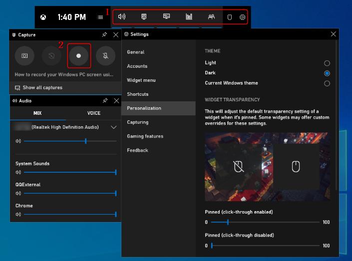 Как записать видео с экрана Windows 10 - Начать запись