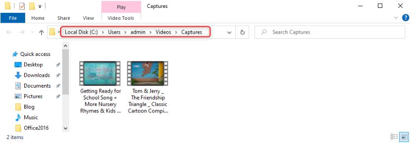 Как записать видео с компьютера со звуком - Расположение записанных видео файлов