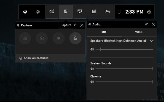 Запись экрана с помощью Xbox Game Bar