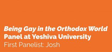 First Panelist: Josh
